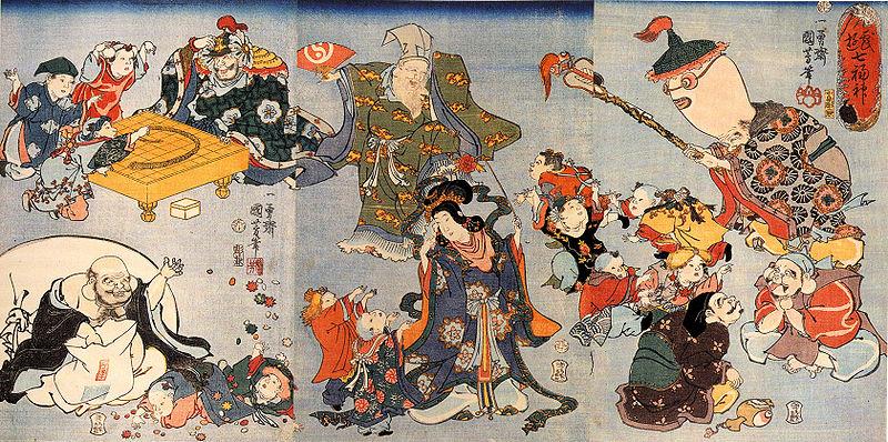 歌川国芳の七福神